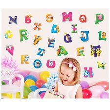 A-Z Alphabet&Animals Vinyl Mural Wall Stickers Nursery Kids Room Decals  Decor S