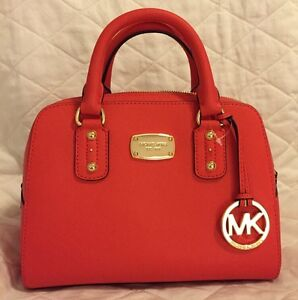 c59488cd49a61 Image is loading NEW-MICHAEL-KORS-SAFFIANO-LEATHER-SMALL-SATCHEL-CROSSBODY-