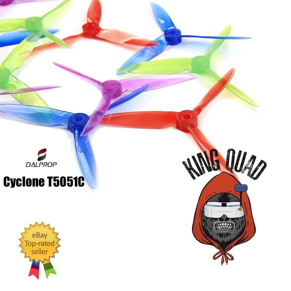 Dal Cyclone T5051C Triblade Propellers 8 Props (4CW 4CCW) The Pro Race Prop!!