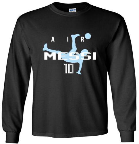 "Black Lionel Messi World Cup Argentina /""AIR/"" T-Shirt"