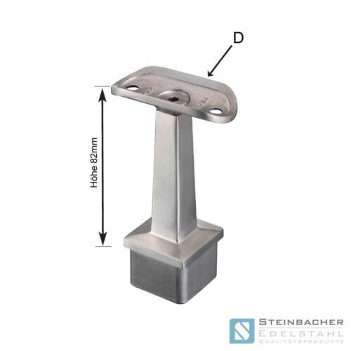 Edelstahl Handlaufstütze Vierkant V2A Handlaufhalter Handlauf Geländer #5
