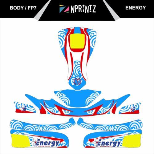 FP7 kit completo Kart Etiqueta de estilo de Energía-Karting-Otk