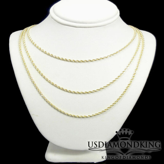 Men/'s Ladies 14k Pave 100/% Real Gold Hollow Figaro Cuban Link Chain Necklace New