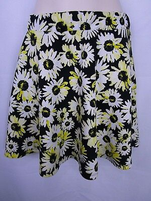 Skirts Clothing, Shoes & Accessories Junior's Rue21 Floral Skirt Black And Yellow Size Large Street Price