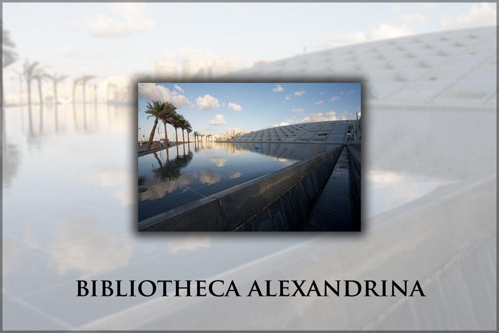 Plakat, Viele Größen; , Bibliotheca Alexandrina aus Mittelmeer Seite. Bild