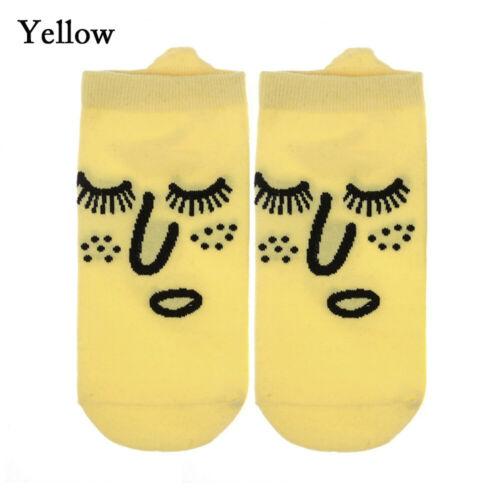 Kawaii Graffiti Short Ankle Socks Shallow Mouth Funny Expression Cotton Sock