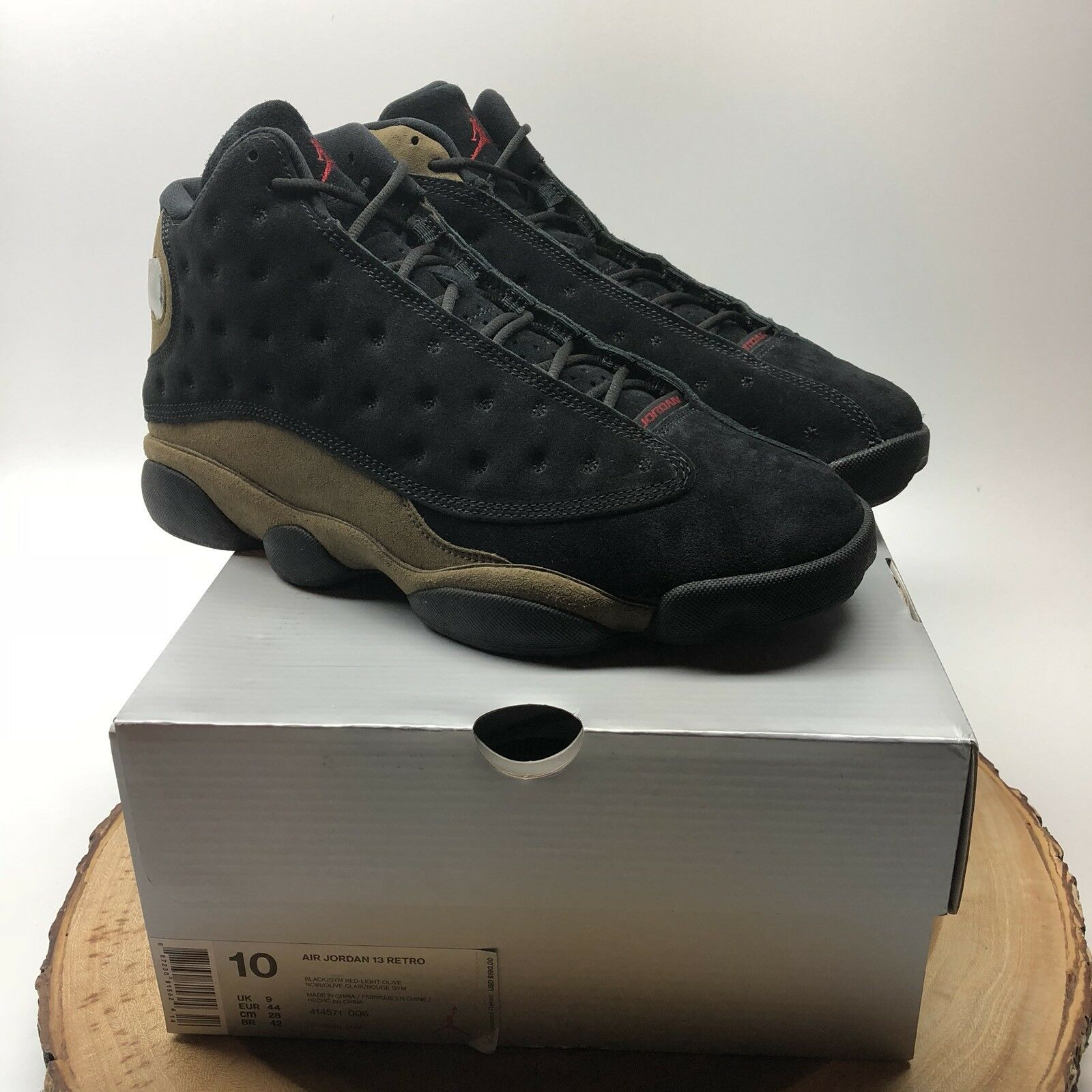 7ba9fa93d1 Nike Air Jordan Retro XIII Black 006 Size 10 Playoff He Got Game X 414571  Olive nsqejn4688-Athletic Shoes