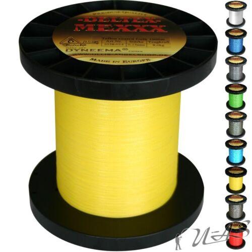 Deltex Mexxx Hi-Tec Rund Geflochtene Angel Schnur Teflon 0,40 1000M Yellow Kva