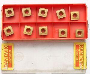 10 Plaquettes De Coupe Plaquettes Sandvik Spmt 09 T3 08-wh, Spmt 3 (2.5) 2-wh