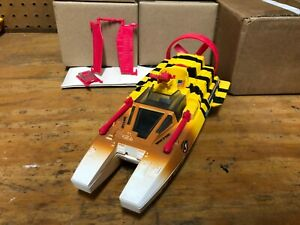 GI-Joe-ARAH-TIGER-FORCE-Tiger-Shark-fan-boat-COMPLETE-vehicle-Hasbro
