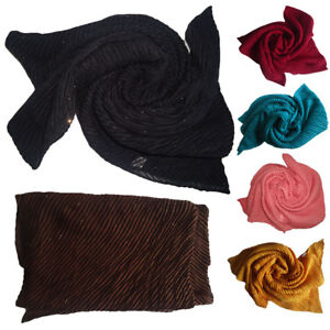 TOP-QUALITY-GLITTER-CRINKLE-HIJAB-BIG-LARGE-COTTON-PLEATED-MAXI-SCARF-SHAWL-WRAP