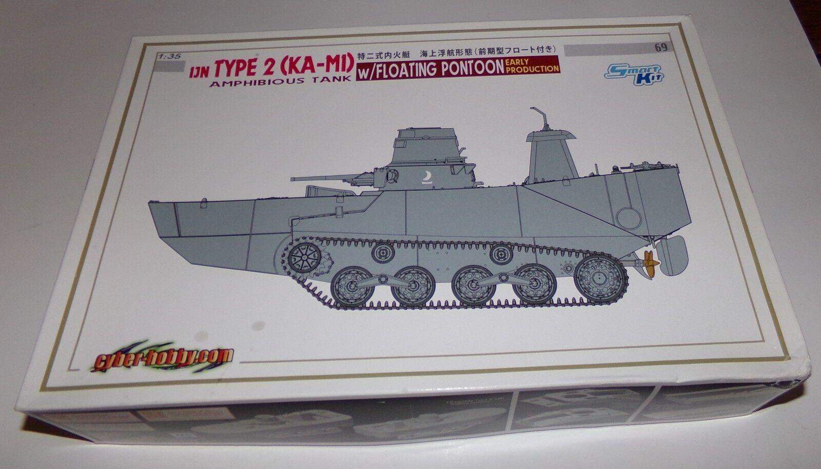 Dragon 6699 IJN Type 2 (KA-M1) Amphibious Tank w  Floating Pontoon 1 35 HTF