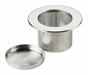 Image Is Loading Tea Infuser Filter Strainer Sieve Amp Tray Metal