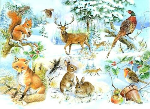 Animal bosque Sampler puntada cruzada B//W chart buy 1 Get 1 Mitad De Precio