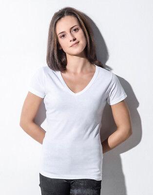 Einfach Nakedshirt Ladies Top Tee 100% Organic Cotton Soft Eco V-neck T-shirt Basic New