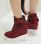 thumbnail 10 - Women Pointed Toe Wedge Heels Ankle Boots Punk Leather Vintage Party Chic Shoes
