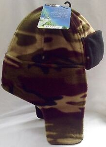 TRACPAC-CAMOUFLAGE-SHERPA-BOMBER-TRAPPER-HAT-WARM-FLEECE-ARMY-CAMPING-FISHING