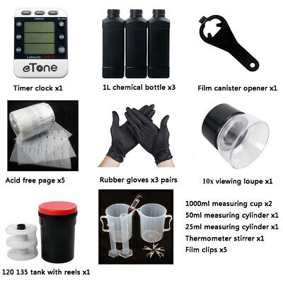 Darkroom Developing Equipment Kit With Tank For 120 135 35mm B/&W Film Processing