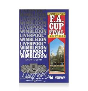 Vinnie Jones Signed 1988 FA Cup Final Programme Autograph