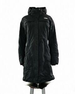 Damen-The-North-Face-Hyvent-lange-gefuetterte-Jacke-Parka-in-schwarz-Groesse-XL-UK-14