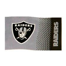 NFL OAKLAND RAIDERS NEW FADE DESIGN FLAG CREST WINDOW BANNER 5 x 3  GIFT XMAS