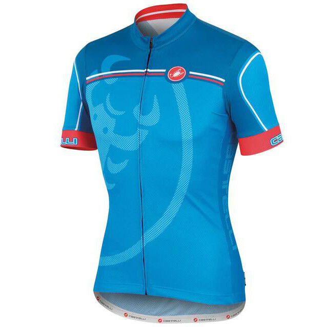 Castelli Velocissimo Giro  Cycling Jersey FZ -  bluee  the most fashionable