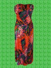 G655✪ Pop Art 60er 70er Jahre Boho Hippie Maxi Kleid dress orange Gr. 40 42 44