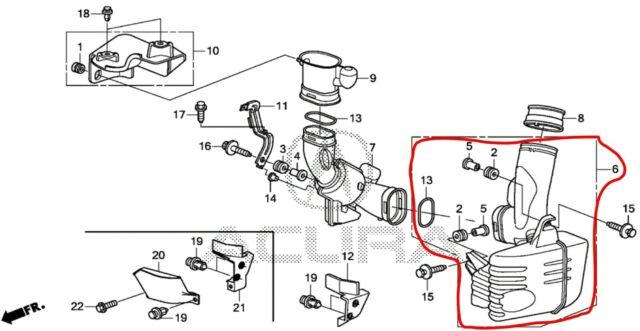 Acura Honda Oem Tsx Air Cleaner Intake Resonator Duct Tube Hose 17230rl6e00 For Sale Online Ebay