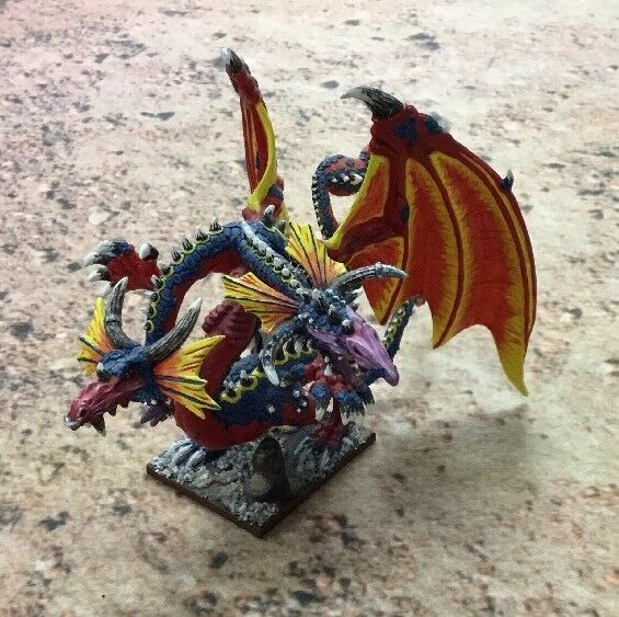 2 games workshop alter sigmar aos dragon (metall und lackiert)