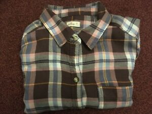 HOLISTER-MENS-LONG-SLEEVE-RED-BLUE-CHECK-SHIRT-SIZE-XS