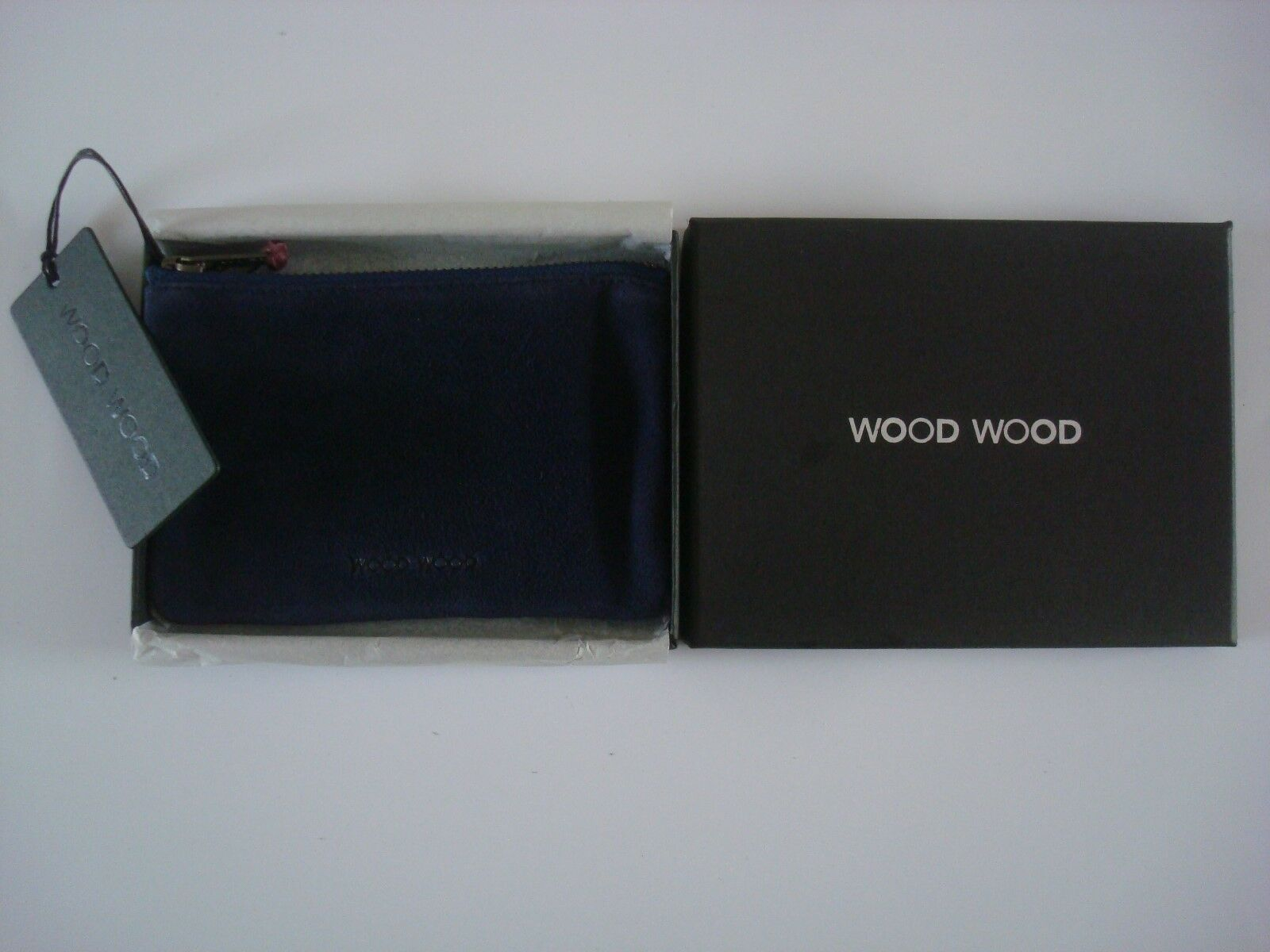 WOOD WOOD Soft Suede Leather Zip Wallet - Two Colour - RRP - Gorgeous - BNWT