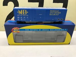 Athearn-Ho-Scale-M-amp-B-Meridian-amp-Bigbee-RR-50-FMC-Boxcar-RD-4067-RTR-NOS