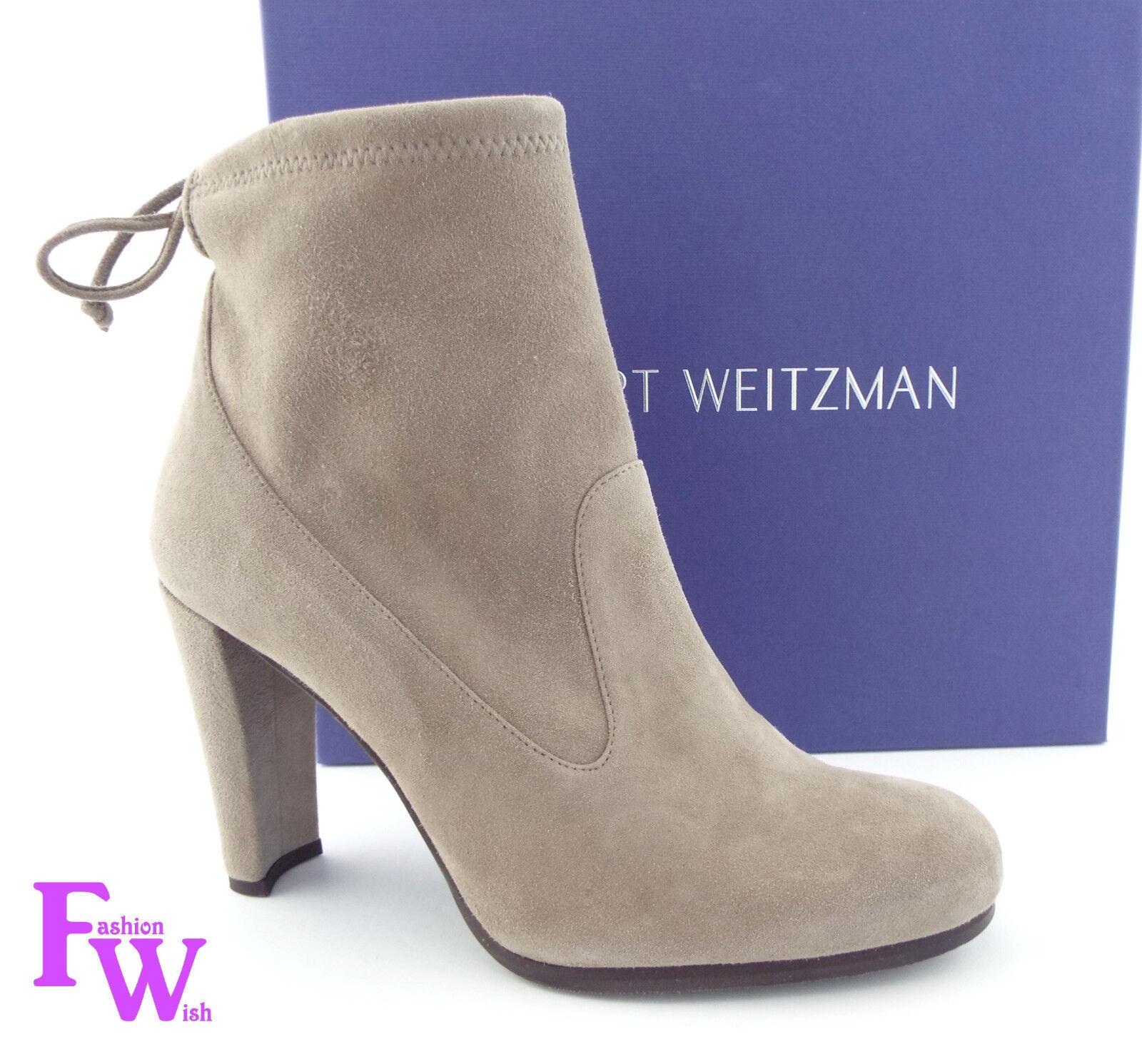 New STUART WEITZMAN Size 8 GLOVE Topo Suede Ankle Booties Boots NIB Dust bag
