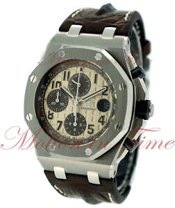 Details About Audemars Piguet Royal Oak Offshore Safari Watch 42mm Ivory 26470st Oo A801cr 01