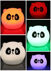 Image Is Loading Hot Usb Silicone Panda Led Children Animal Night