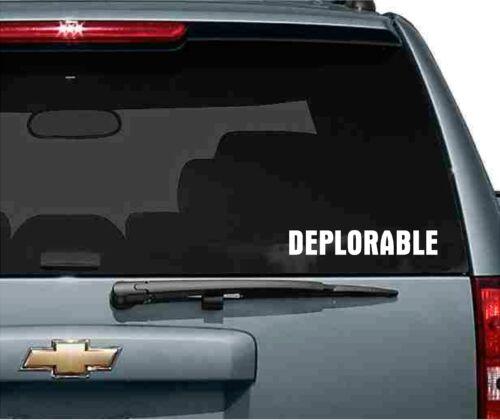 2 DEPLORABLE Vinyl Decals Sticker Window Wall Bumper Donald Trump Supporter