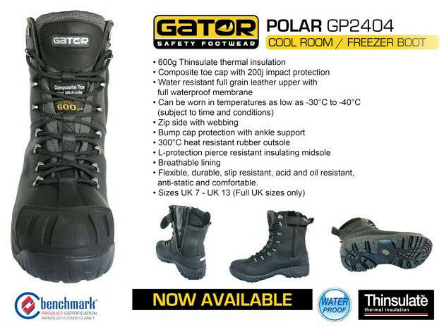 Gator 'Polar' 'Polar' 'Polar' GP2404 Cool Room & Freezer Work Stiefel. Safety Toe Cap. WATERPROOF 01291e