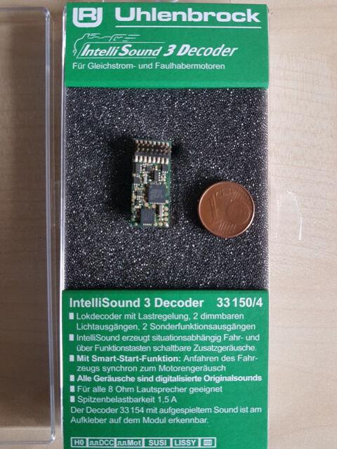 Uhlenbrock 33150 Sound3Decoder PluX16 DCC/MOT H0, TT, N mit Wunschsound Neu OVP