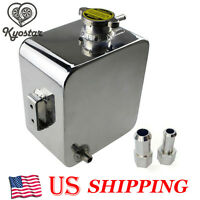 2 Litre Universal Polished Custom Alloy Header Expansion Water Tank With Cap 2l