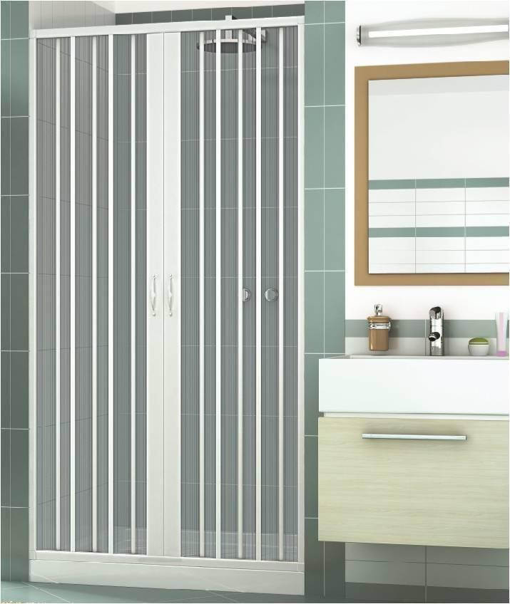 Mampara ducha en PVC dos hojas - Abertura Central 100 cm, 110 cm, 120 cm, 130 cm