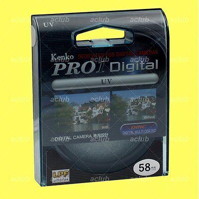 Genuine Kenko 58mm Pro1 D Pro 1 Digital UV Filter Pro1D Pro 1D DMC Multi Coated