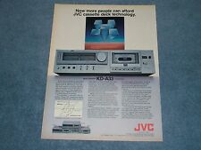 """1981 KD-A33 JVC Tape Deck Vintage Ad """"Now More People Can Afford..."""""""