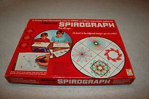 Vintage Kenner's Spirograph Art Drawing Set Toy Kit w/ instruction Red Tray #401