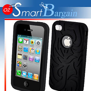 TOP-Fire-Design-Silicone-Cover-Case-For-iPhone-4G-4GS-Screen-Protector