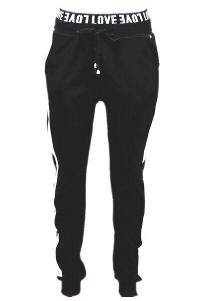 Damen Sport Wear Hose Fitness Yoga Gymnastik Jogging Schriftzug am Bund CH-1712