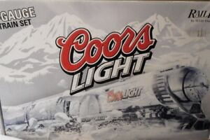 MTH-RAILKING-COORS-LIGHT-SILVER-BULLET-BEER-TRAIN-SET-amp-TAIL-CAR-PROTOSOUND-2-0
