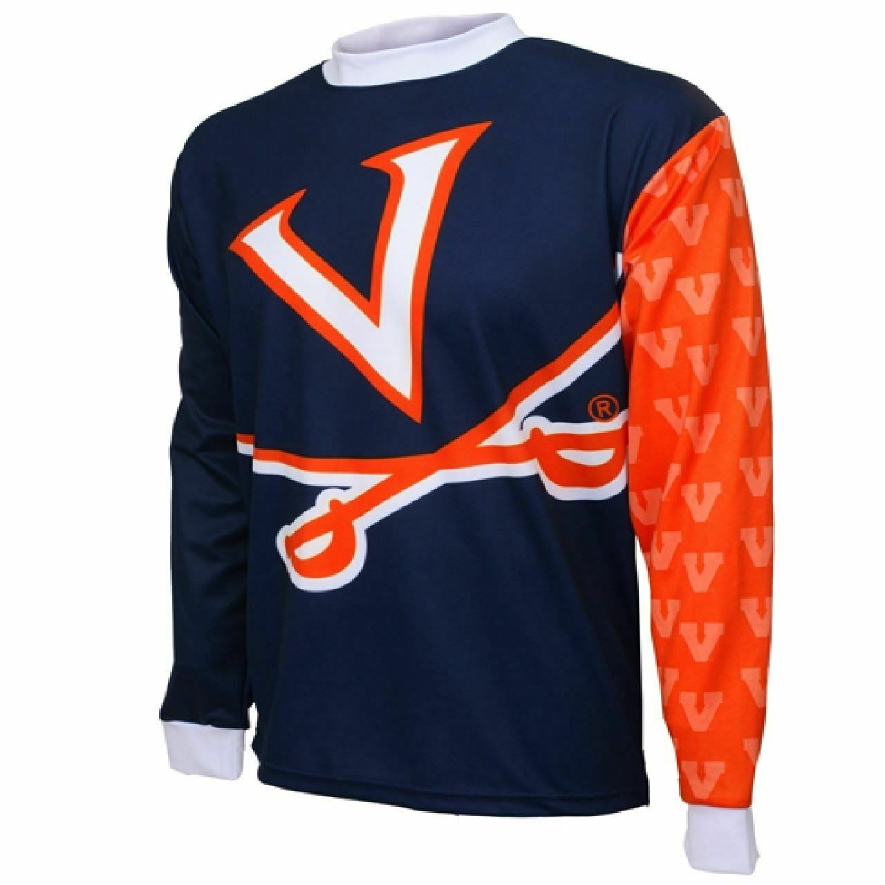 University of Virginia Cavaliers College LS Men's MTB Cycling Jersey   more order