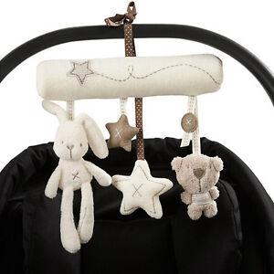 Bunny-Baby-bebe-cochecito-cuna-Musical-Juguete-Sonajero-de-actividad-Cochecito-asiento-de-coche