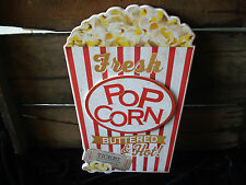 HOT CINEMA POPCORN THEATER movie room snack food reel DECOR WOOD PLAQUE film