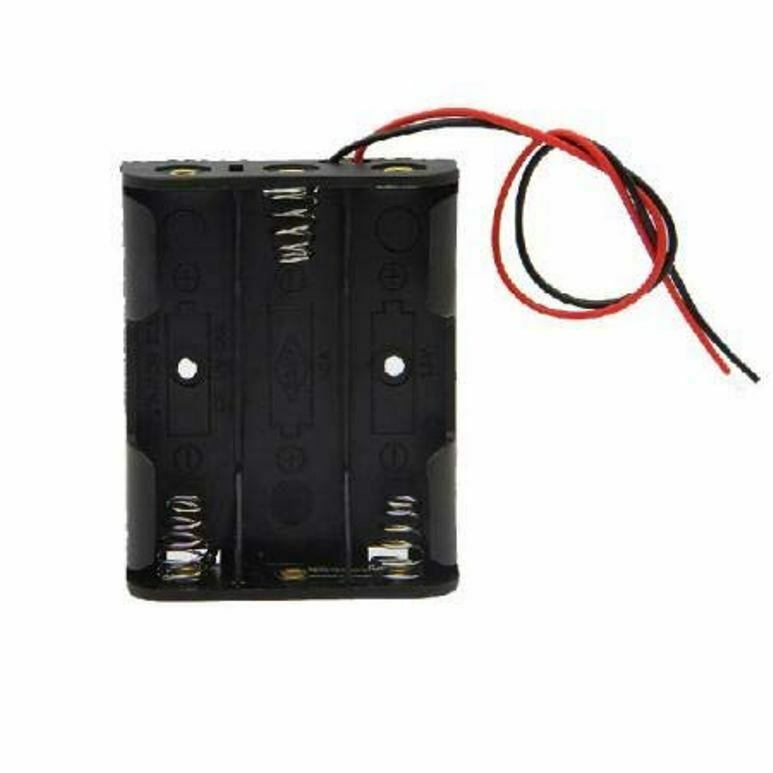 3 x 1.5V AA CELL Battery Holder Storage Box standard 4.5V Case with Lead Wire